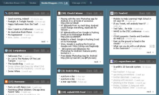 Sample Netvibes library portal